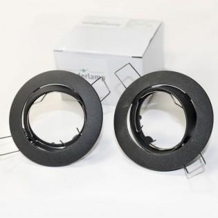 Pack 2 empotrables BASIC basculante negro. Wonderlamp