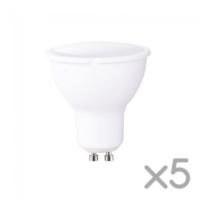 Pack 5 bombillas LED GU10 6W (luz fría)