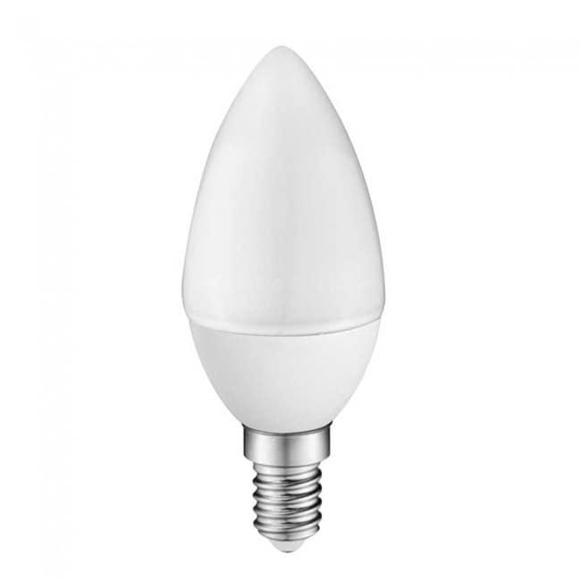 Bombilla LED Vela E14 6W (luz cálida)