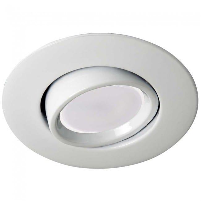 Foco de empotrar blanco con bombilla led luz c lida 8w - Focos de techo sin empotrar ...