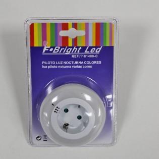 Quitamiedos nocturno con sensor crepuscular de 3 luces de colores
