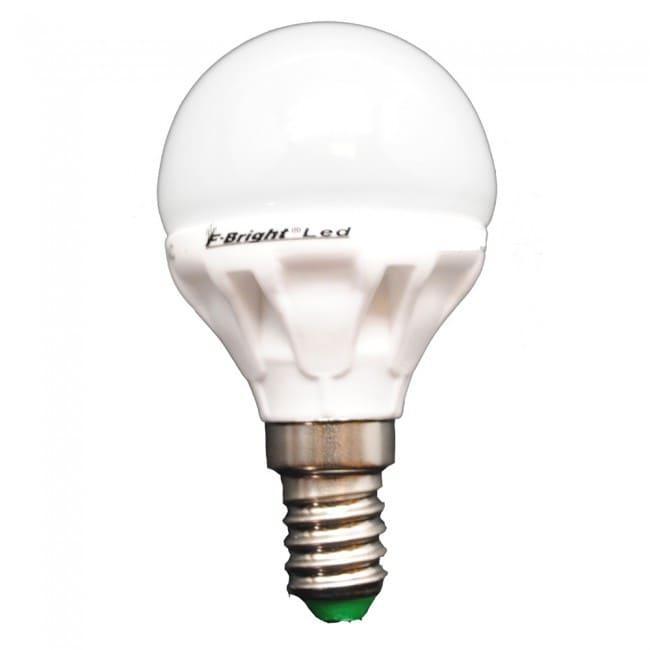 Bombilla LED Esférica Cerámica E14 Luz fría (5.2W)