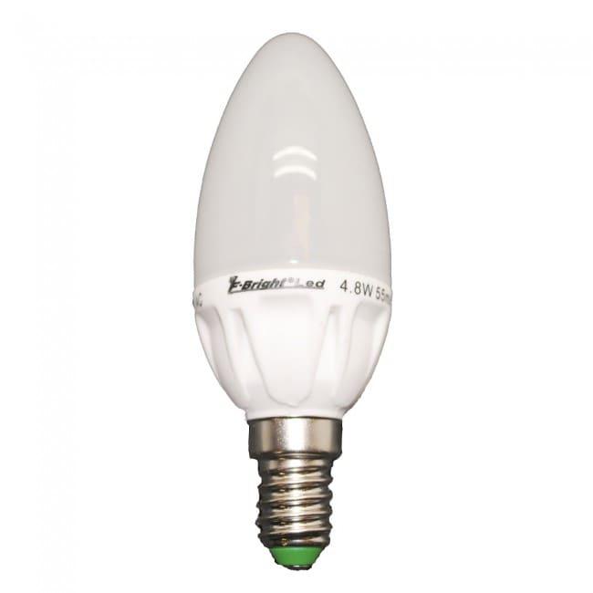 Bombilla LED Vela cerámica E14 luz fría (5.2W)