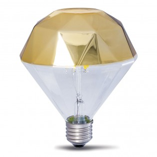 Bombilla Decorativa LED E27 Prisma Oro (10W)