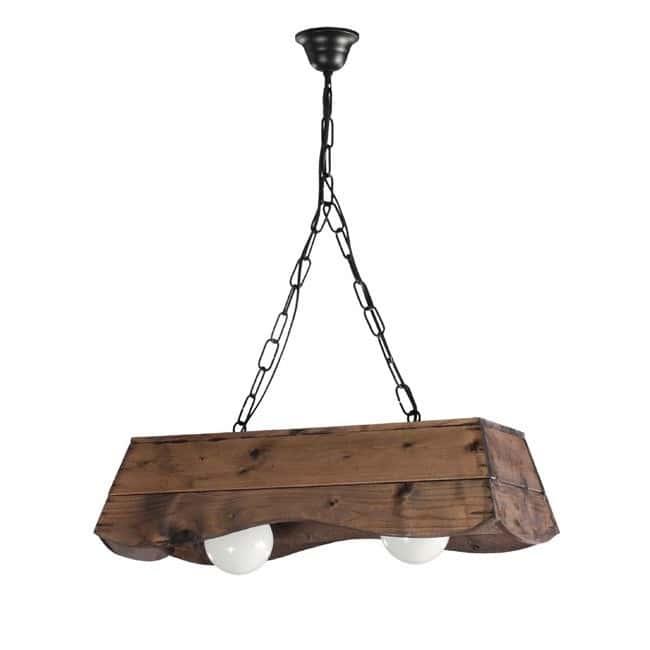 Lampara r stica bolin comprar joalpa online - Como hacer una lampara rustica ...