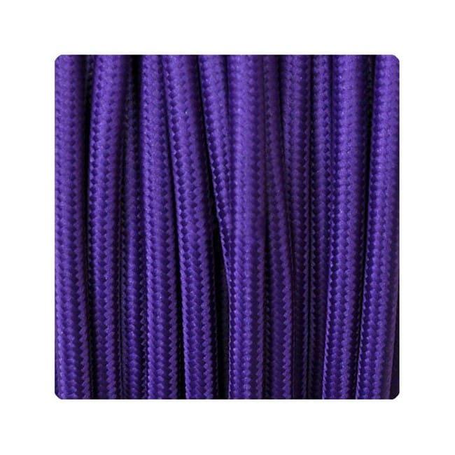 Cable textil morado