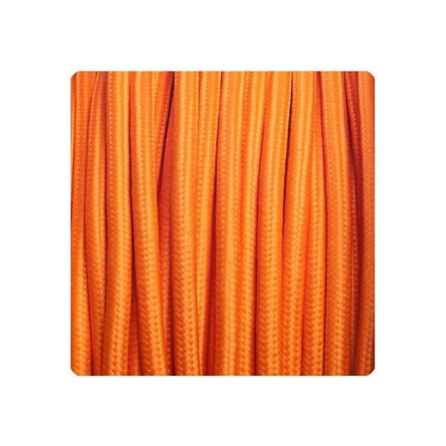 Cable textil naranja