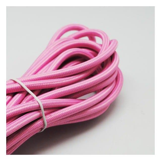 Cable textil rosa