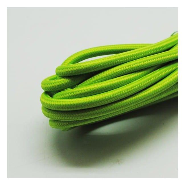 Cable textil verde