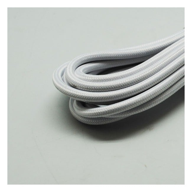 Cable textil blanco