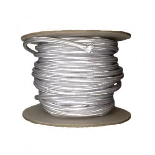 Rollo cable textil plata