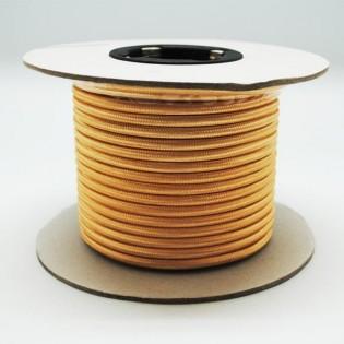 Rollo cable textil dorado