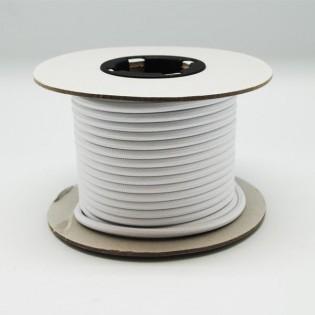 Rollo cable textil blanco