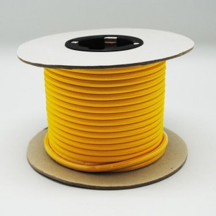 Rollo cable textil amarillo