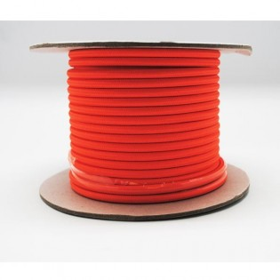 Rollo cable textil naranja