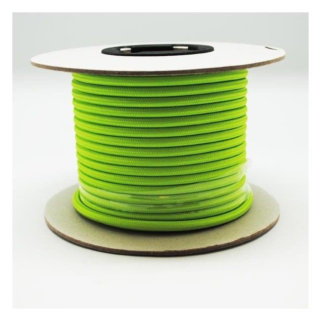 Rollo cable textil verde