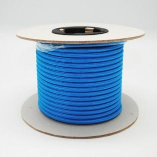 Rollo cable textil azul
