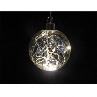 Bola cristal luz LED transparente