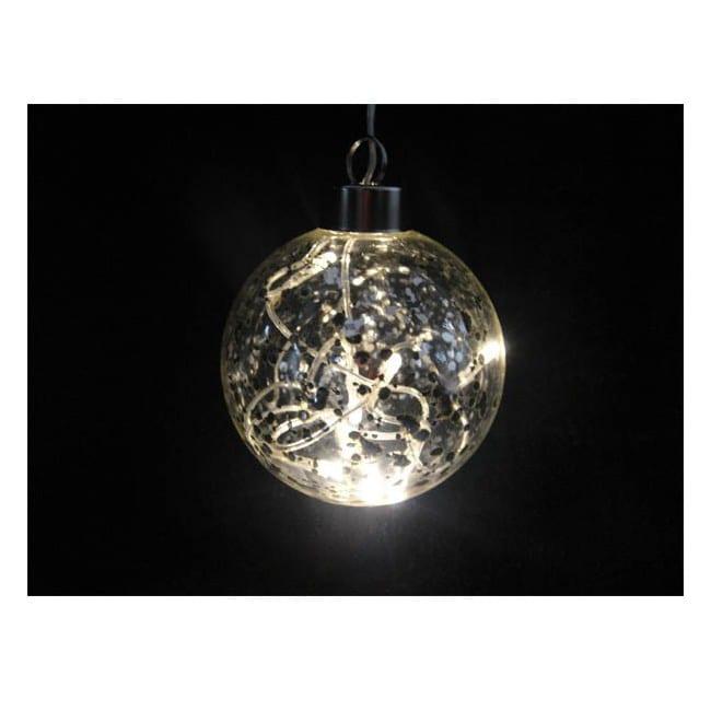 Bola de cristal transparente con luz led iluminaci n for Bolas de cristal decorativas