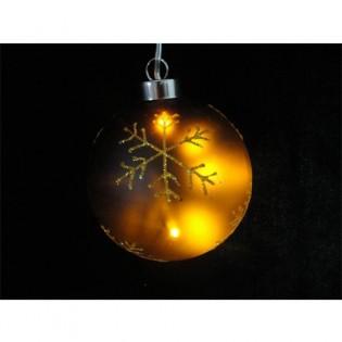 Bola cristal luz LED estrella