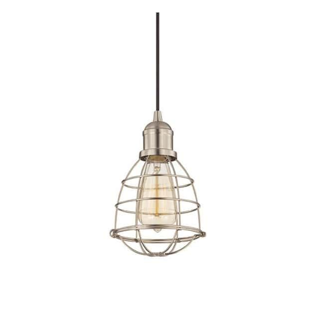 Lámpara techo Vintage níquel -jaula-