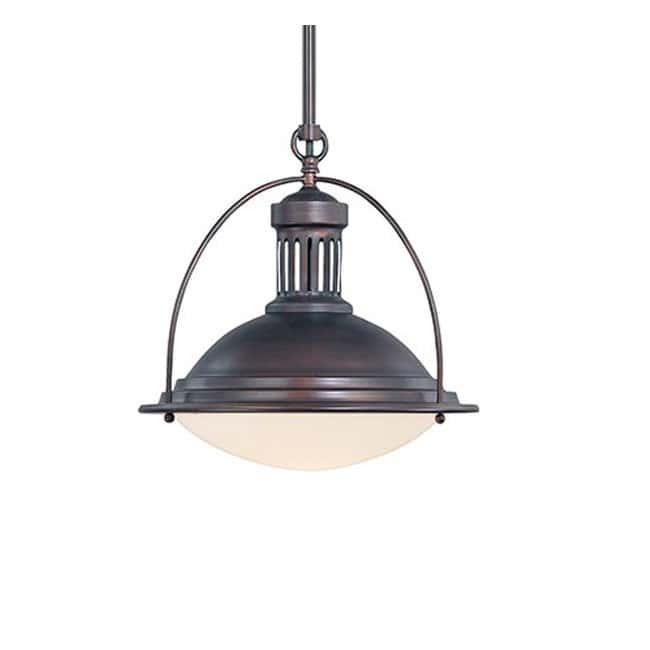 Lámpara industrial bronce II