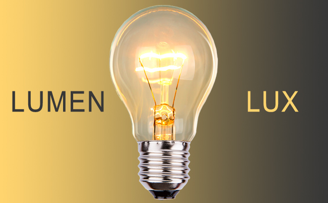 Lumens and luxes
