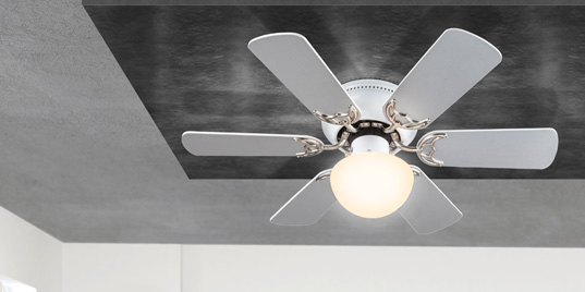 Globo lighting fans