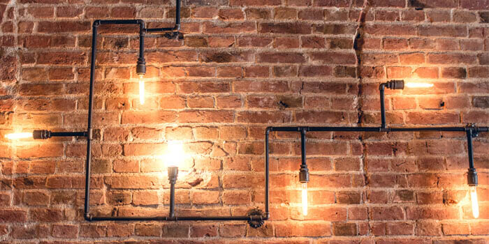 Retro, vintage, industrial style lighting