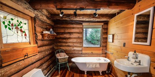 éclairage rustique pour salles de bains
