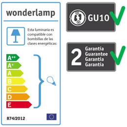 Etiqueta foco empotrable Wonderlamp -  Lamparas.es