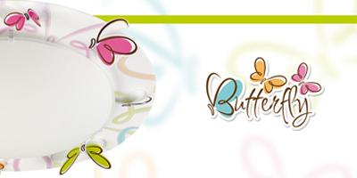 Colección lámparas infantiles Butterfly. Dalber.