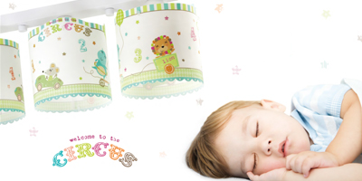 Collection lampes infantiles Circus. Dalber.