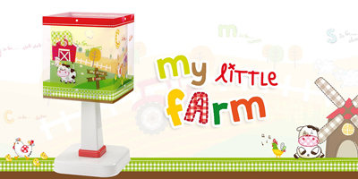 Collection lampes infantiles My Little Farm. Dalber.