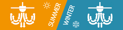Summer use Fans and Winter use Fans