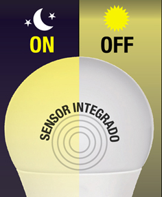 Led bulb twilight sensor