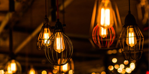 Retro-vintage decorative light bulbs.