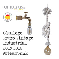Catalogue Lampes rétro-industrielles Steampunk.