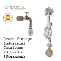 Retro-industrial vintage Lamps Catalogue Steampunk.