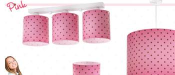 Colección lámparas juveniles Pink. Dalber.