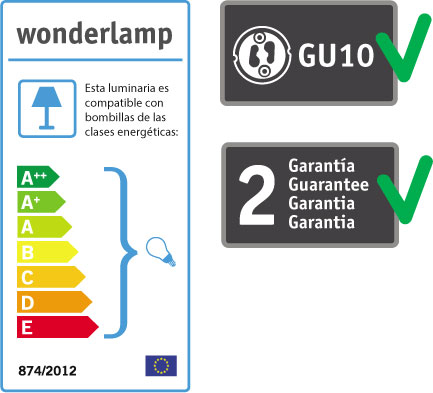 Wonderlamp foco empotrable con portalamparas GU10