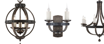Rustic lights Alsace Collection by Savoy House Europe.